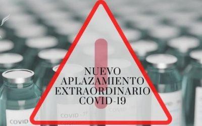 NUEVO APLAZAMIENTO EXTRAORDINARIO COVID-19